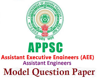 APPSC AE & AEE Model Question Paper 2016 Answer Key
