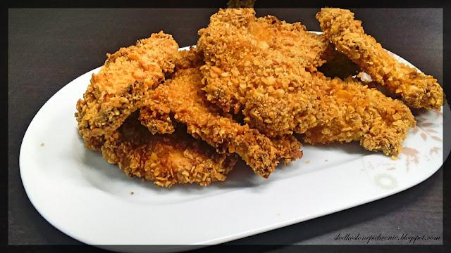 Pieczone kąski kurczaka w śmietanowo-majonezowym cieście