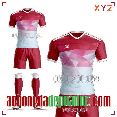 Áo Ko Logo XYZ-01 Màu Đỏ