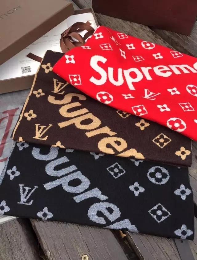 Louis Vuitton X Supreme Scarf Color Red Brown Black Size 180cm 50cm Price RM18000 USD6000 Whatsapp 016 692 7877