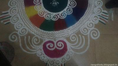 Multi Half Circle Rangolis