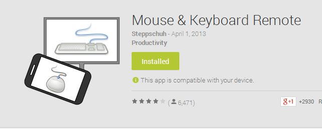 Apps Remote Android Mouse & Keyboard