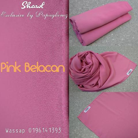 shawl labuh, shawl wide terkini, shawl warna pink belacan,