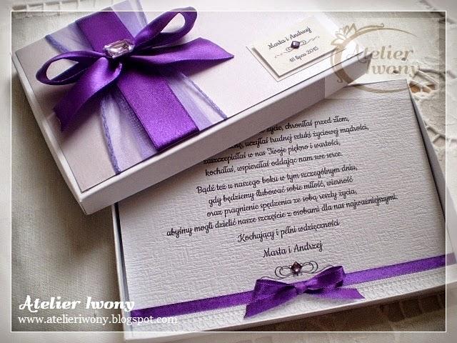 Atelier Iwony Zaproszenia ślubne Dla Rodziców I Dla Babci W