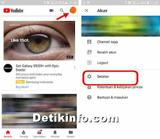 pengaturan akun youtube