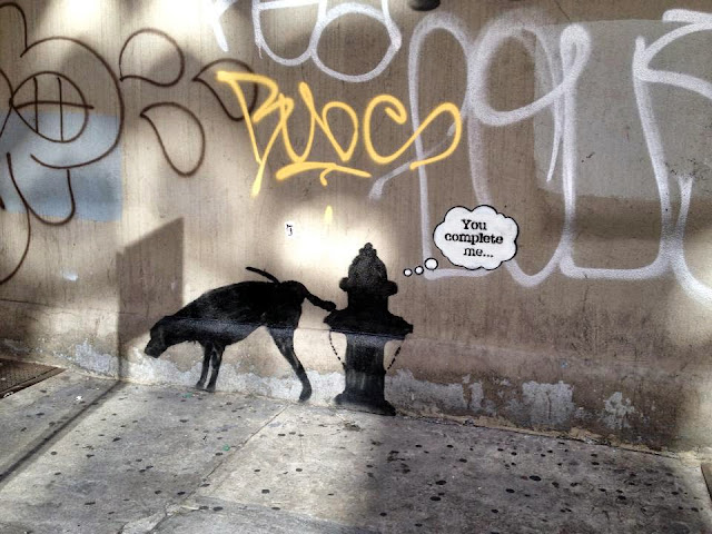 "Street Art By Banksy In New York City For ""Better Out Than In"" - Piece #3 You Complete Me. 3"