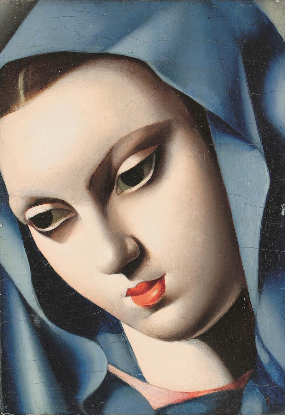 Tamara  De  Lempicka  La  vierge  bleue