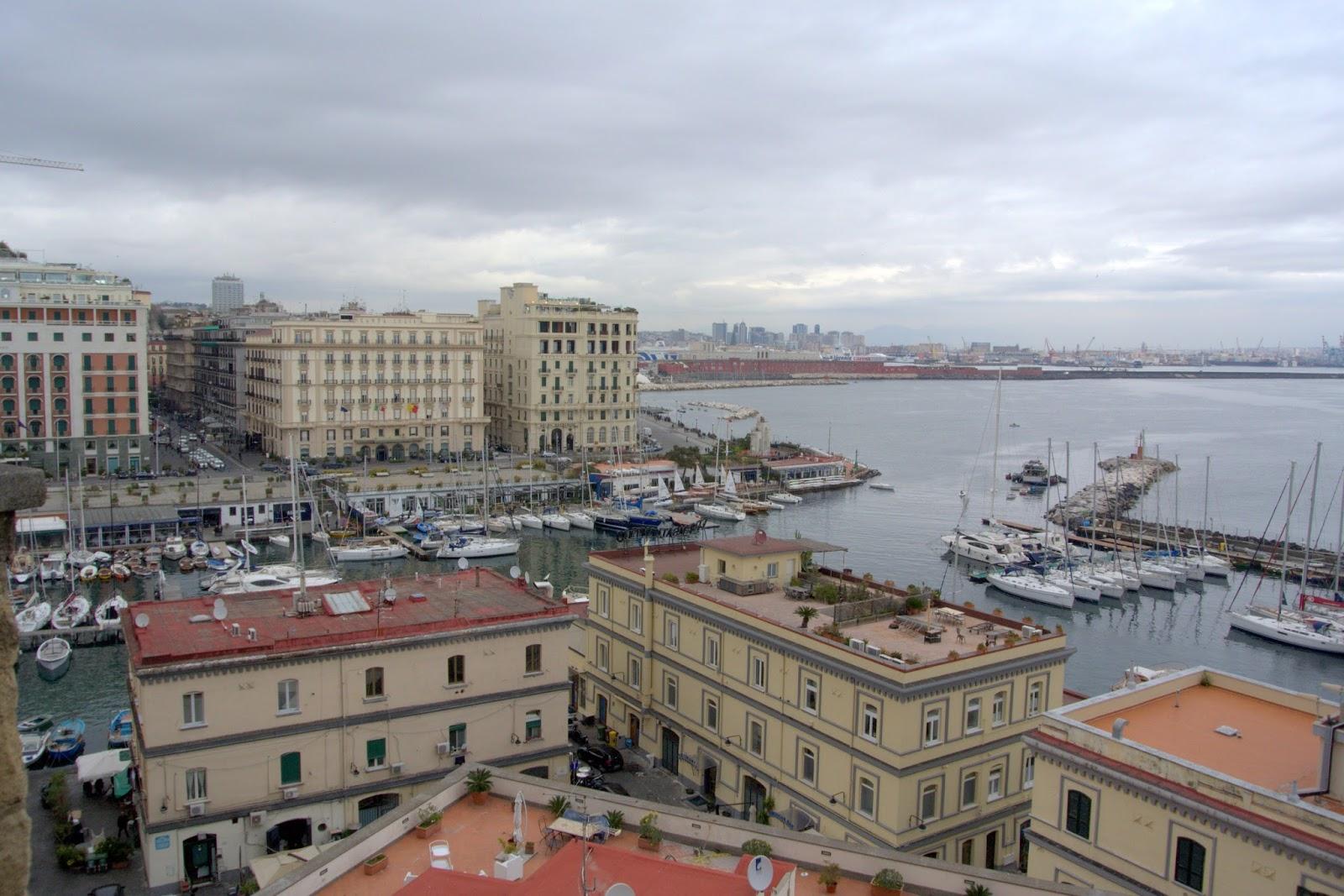 widok na miasto Neapol, punkt widokowy