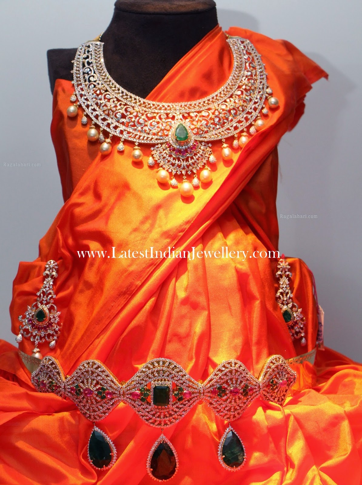 Diamond Necklace Vaddanam set