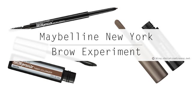 Maybelline New York Brow Experiment. Reviewing Brow Drama Shaping Chalk Powder in Deep Brown, Brow Precise Fiber Volumizer in Soft Brown, and Brow Precise Micro Pencil in Deep Brown.