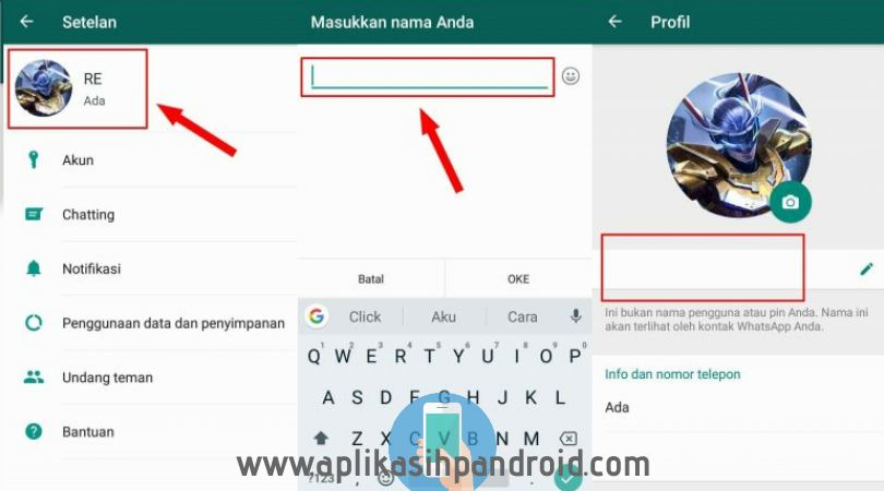 Cara gampang membuat tulisan kosong di status, chat & profil whatsapp 3