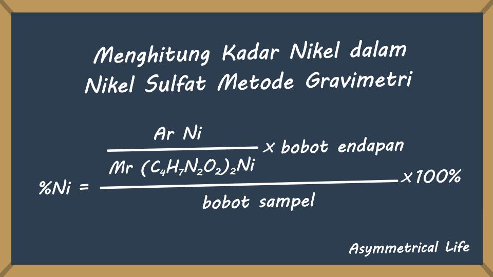 Perhitungan Kadar Nikel dalam Nikel Sulfat Metode Gravimetri