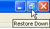 click restore down