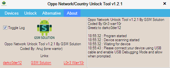 Oppo Network Unlock Tool V1 2 1 By Gsm Solution - Nasir Mobiles