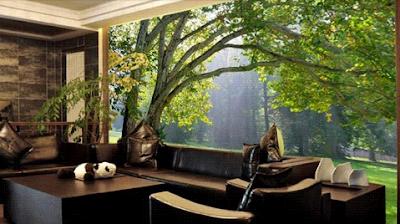 wallpaper 3d gambar pohon