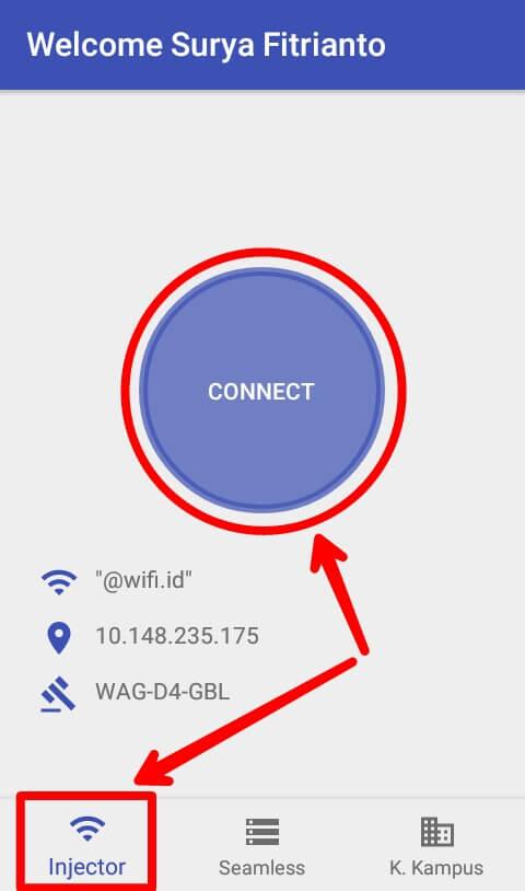 Untuk menggunakan aplikasi Widpedia Pro supaya bisa kita gunakan untuk mengakses internet pada jaringan Wifi Id ada 2 cara, yaitu langsung terhubung atau bisa juga membuat akun Wifi Id Komunitas Kampus secara gratis.