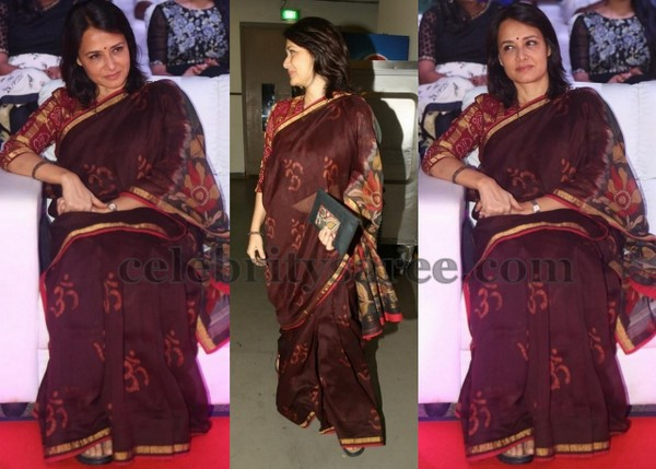 Amala in Khadi Print Saree