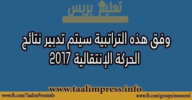 وفق هذه التراتبية سيتم تدبير نتائج الحركة الإنتقالية 2017