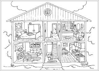 Ausmalbilder Haus zum Ausdrucken