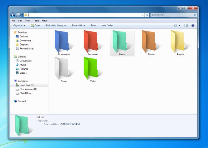 Dale una pincelada de color a las carpetas de tu equipo , con Folder Colorizer
