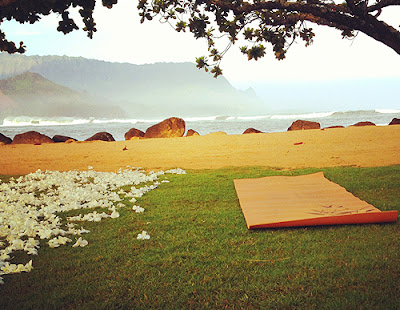 Yoga mat near the beach
