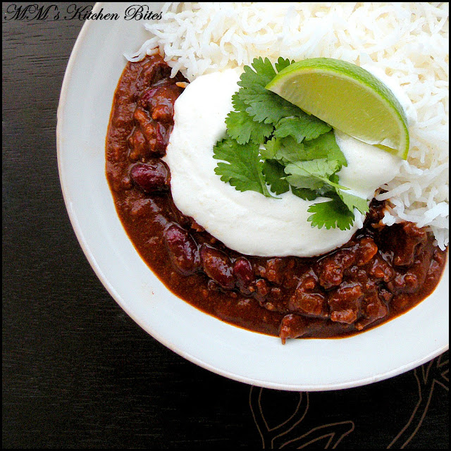 Chili Con Carne with Sour Cream mmskitchenbites