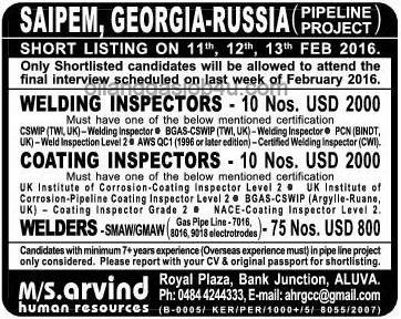 Job Vacancies In Saipem Russia