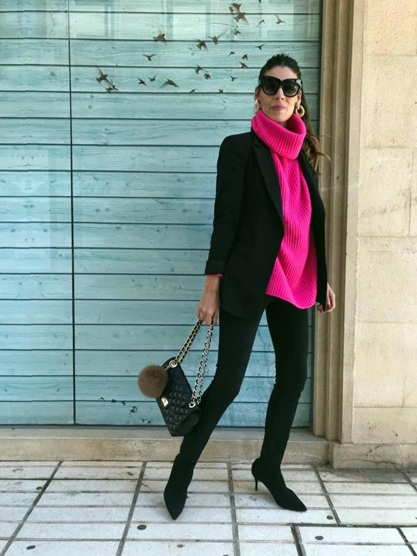 Jersey rosa, jersey fucsia, jersey cuello alto