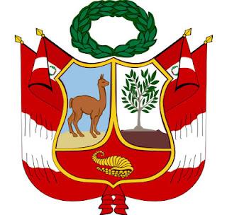 Dibujo del Segundo Escudo Nacional del Perú a colores