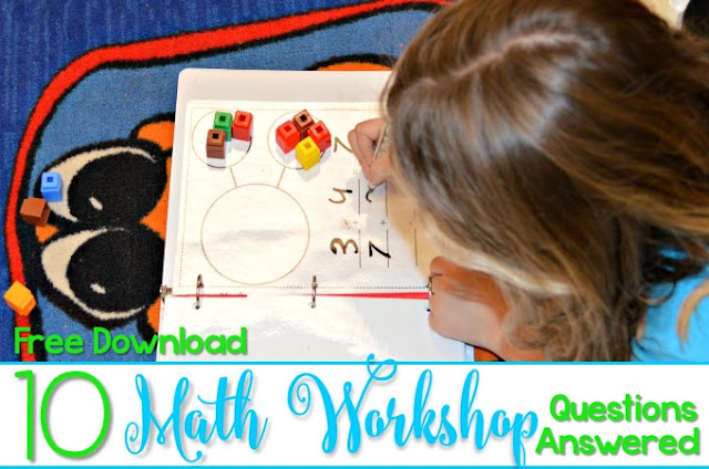 Kindergarten Math Workshop!  See how we build math fluency and number sense through everyday math workshop!