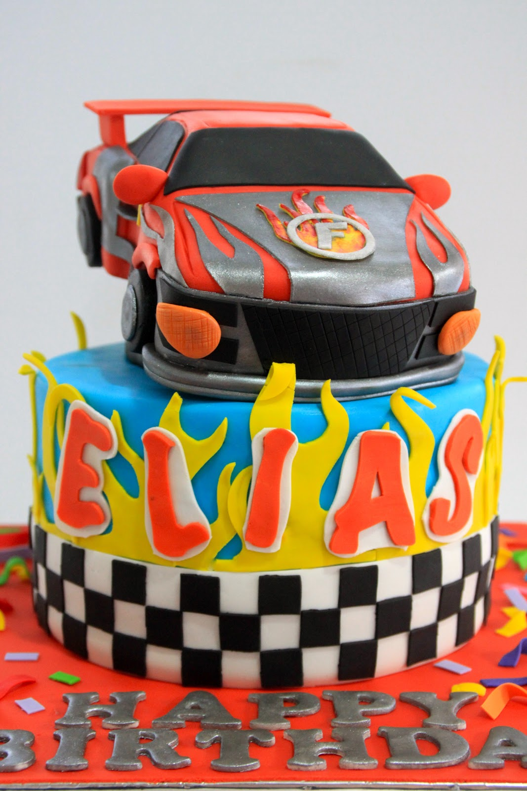Flash And Dash Racing Car Cake