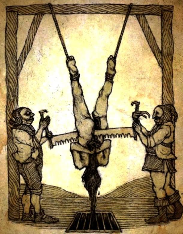 25 การทรมานโหดที่สุดในโลก เลื่อยทรมาน (Saw Torture)