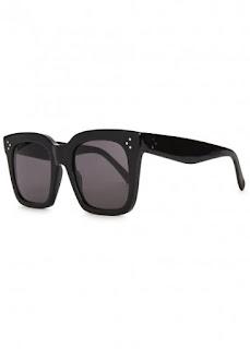 replica celine tilda black wayfarer style sunglasses