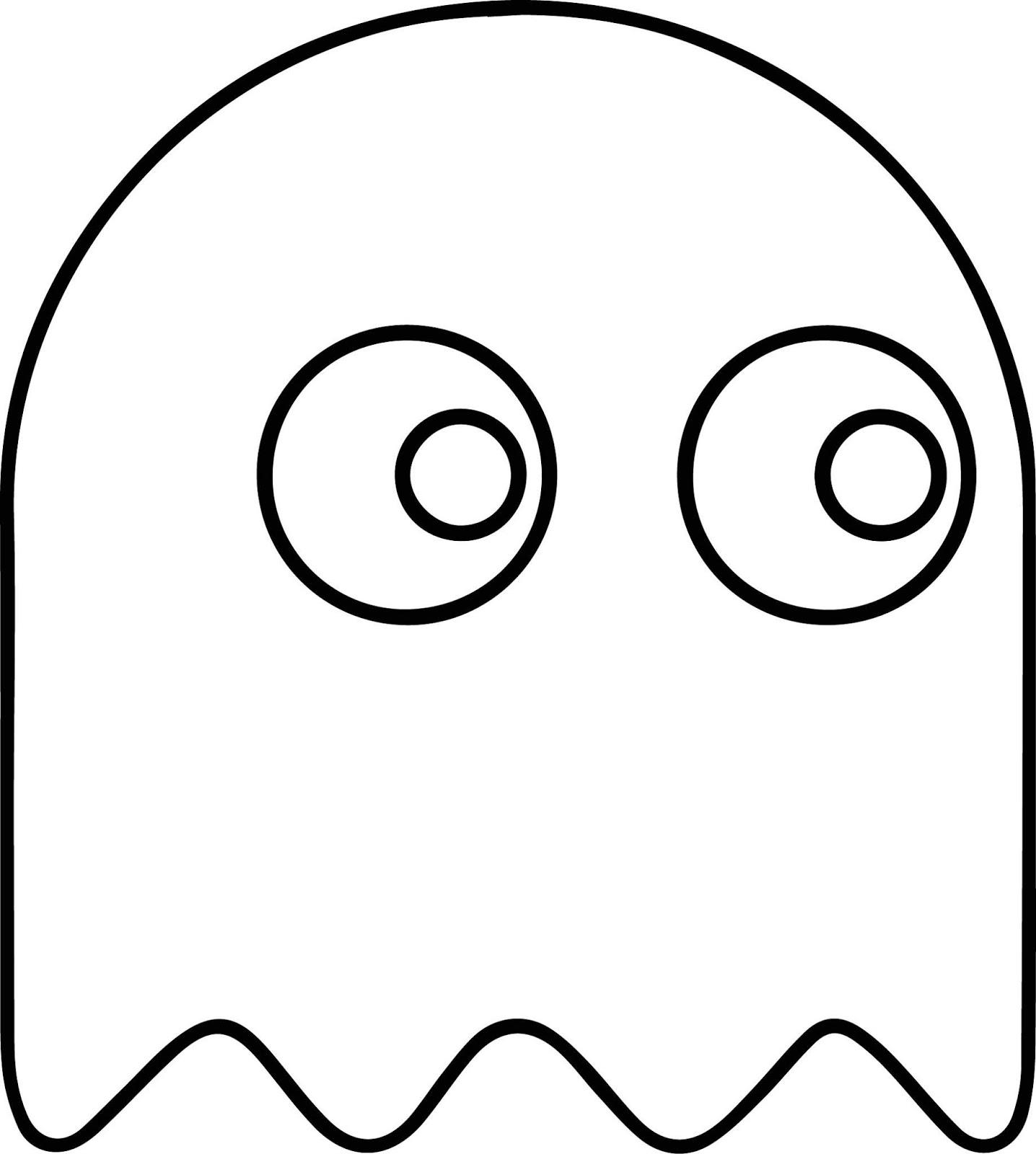 Desenhos de Fantasma em Pacman para Colorir e Imprimir ...