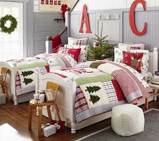 Dormitorio infantil navideño
