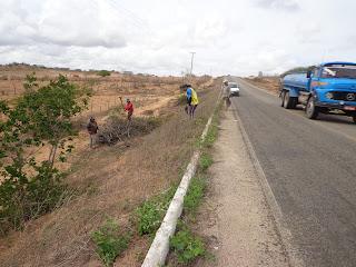 Infraestrutura de Baraúna faz limpeza na PB-169 que dá acesso à cidade