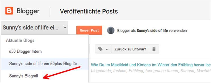 Mehrere Blogs eines Google-Kontos verwalten