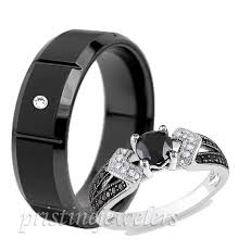 Tungsten Wedding Ring Set
