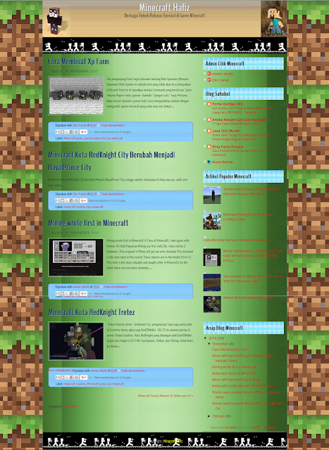 Template SEO Friendly Header Dynamic Theme Minecraft Game