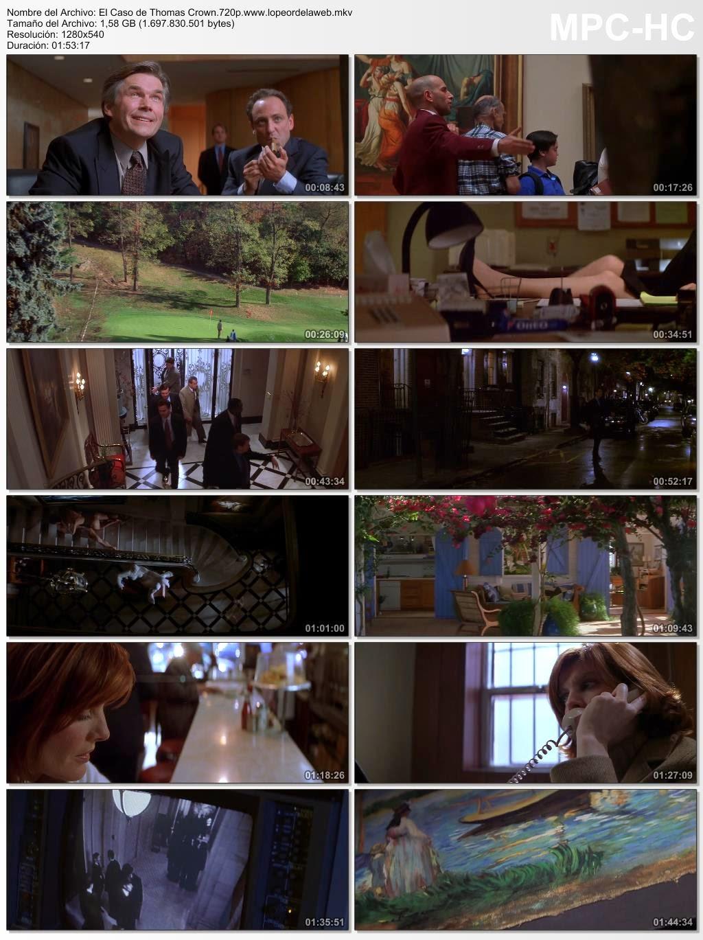 El Caso de Thomas Crown (1999) BRrip 720p Latino-Ingles