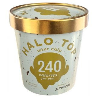 halo top ice cream, mint chip, 240 calories per pint