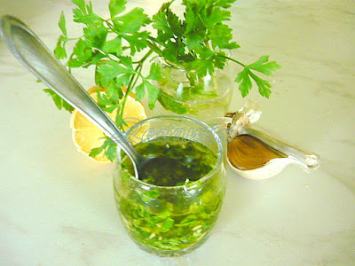 Parsley, garlic, lemon and olive oil