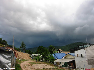 Dark clouds over Koh Samui