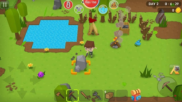 Game SINH TỒN MOBILE HAY MINE SURVIVAL phong cách minecraft