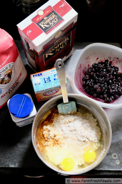photo of the ingredients to make raspberry, brown sugar, and oatmeal muffins
