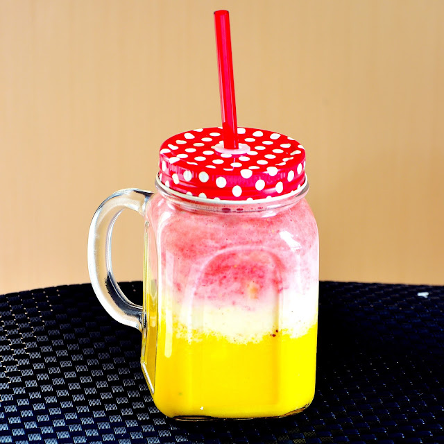 Strawberry Mango Lassi Smoothie