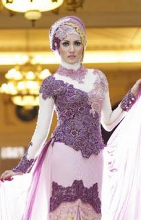 Model kebaya muslim trendy untuk pesta pernikahan
