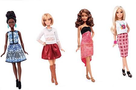 Formatos de corpo das novas  Barbies coleção 2016 Baixa