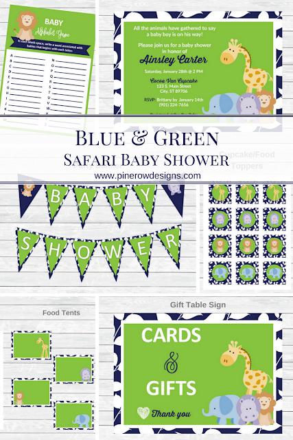safari baby shower, jungle baby shower