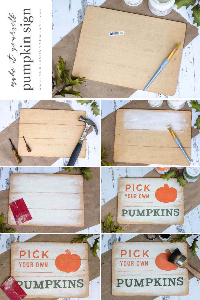 DIY Pumpkin Sign Instructions
